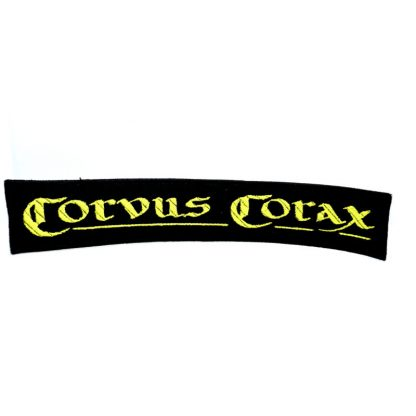 corvus corax logo strip patch