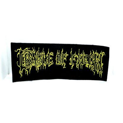 cradle of filt yellow logo strip patch