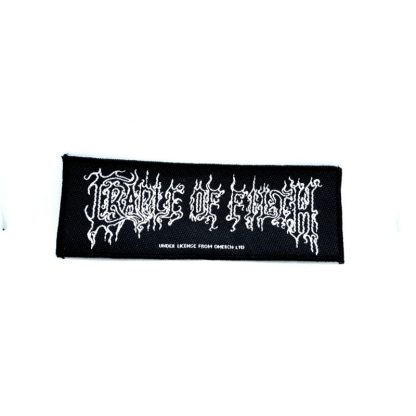 cradle of filth white logo strip patch