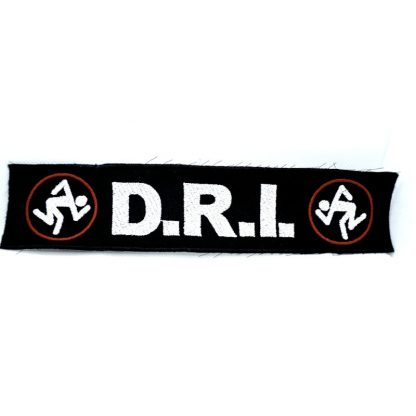 d.r.i. logo strip patch