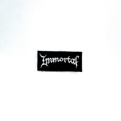 immortal logo mini patch