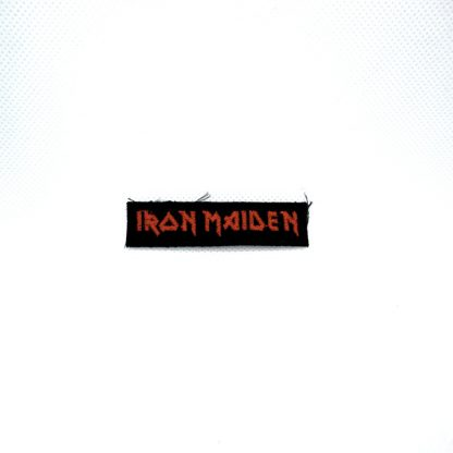 iron maiden red logo mini patch