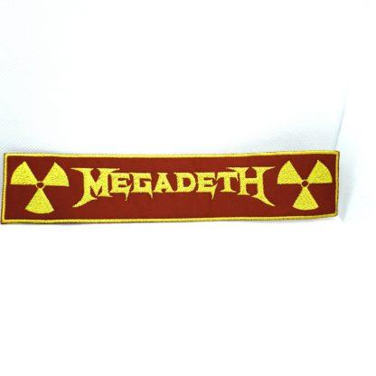 megadeth nuclear logo strip patch