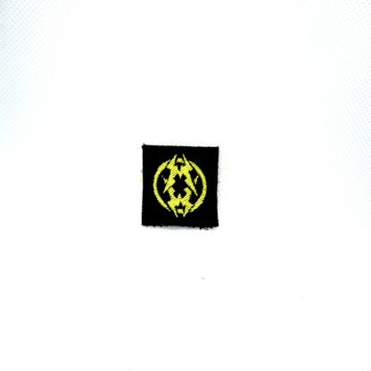 municipal waste yellow logo mini patch