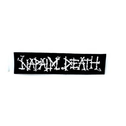 napalm death logo strip patch