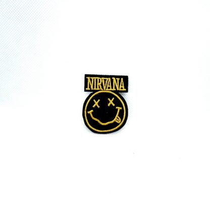 nirvana smiley logo mini patch