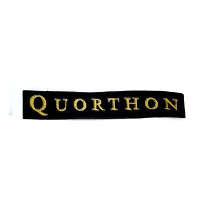 quorthon logo strip patch