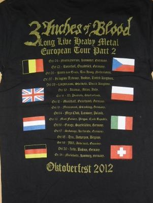3 inches of blood heavy metal album TS back