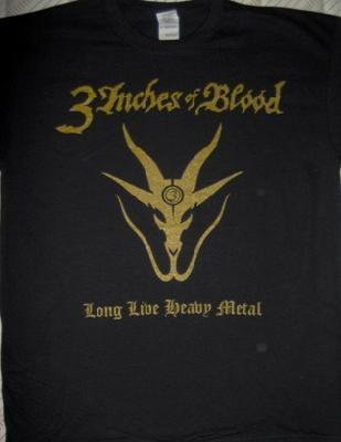 3 Inches Of Blood Long Live Heavy Metal Ts Front