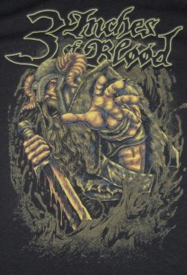 3 Inches Of Blood Viking Ts Front