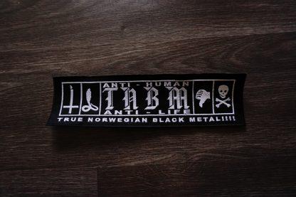 anti human anti life true norwegian black metal back stripe