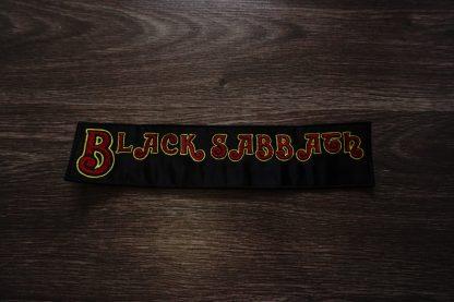 black sabbath logo back stripe