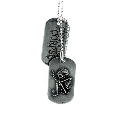 cannibal corpse butchered at birth foetus dogtag front