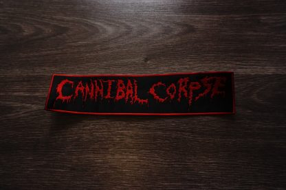 cannibal corpse old logo back stripe