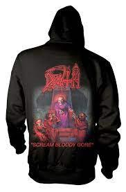 Death Scream Bloody Gore Zip Back