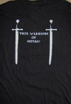 Gothic Knights True Warriors Of Metal Ts Back