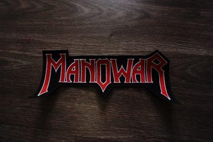 manowar logo cutout back stripe