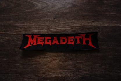 megadeth logo back stripe