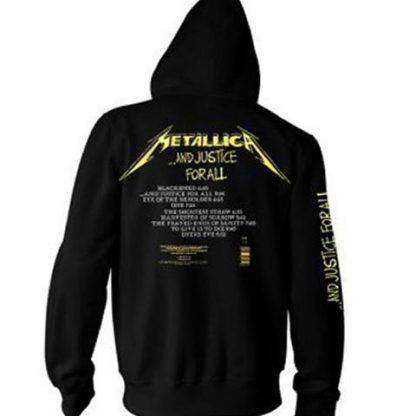 metallica and justice for all HS back