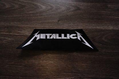 metallica logo back stripe