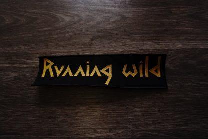 running wild logo back stripe