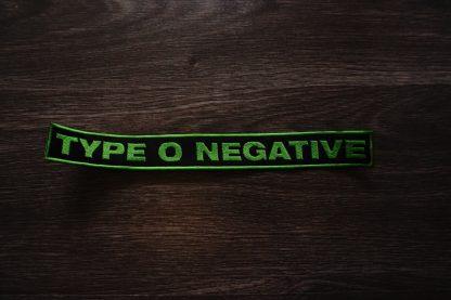 type o negative logo back stripe