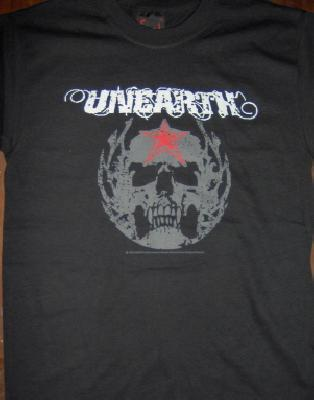 Unearth Grey Skull Ts Front