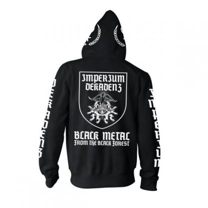 Imperium Dekadenz Black Metal Zip Back