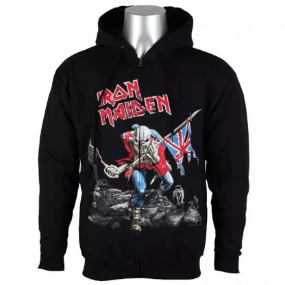 Iron Maiden Scuffed Trooper Zip Front