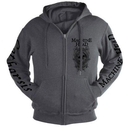 Machine Head Catharsis Grey Zip Front