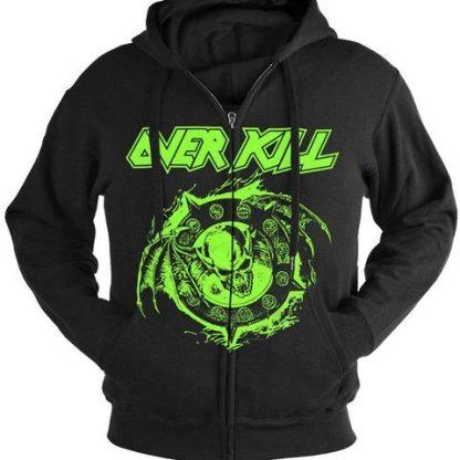 Overkill Krushing Skulls Since 1980 Zip Front