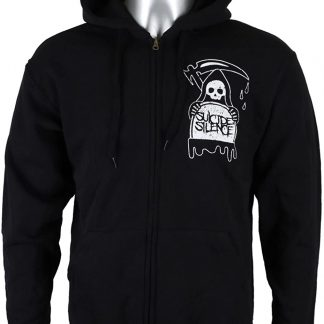 suicide silence hourglass ZIP front