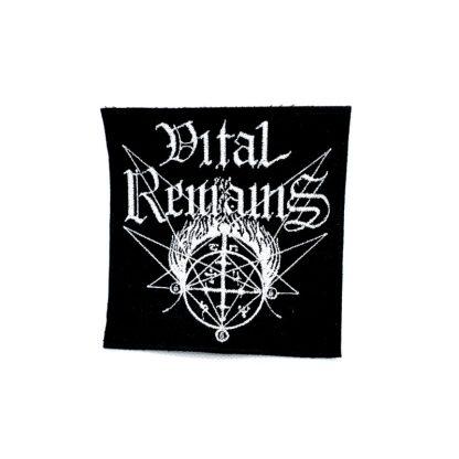 vital remains logo patch