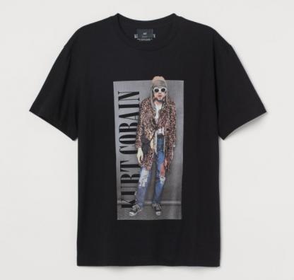 Nirvana Kurt Cobain Mens Band Shirt