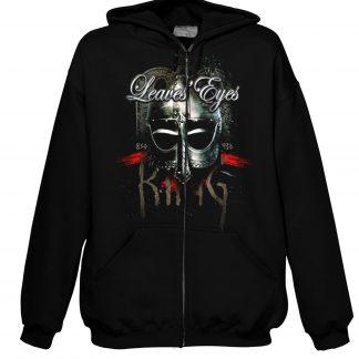 Leaves Ees King Of Kings Men Hooded Zip Sweater Front