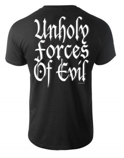 Immortal Unholy Forces Of Evil Mens Band Shirt Back