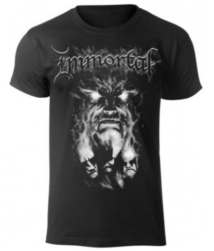 Immortal Unholy Forces Of Evil Mens Band Shirt Front